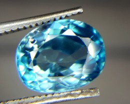 3.55 Crt Natural Blue Zircon Faceted Gemstone (R 80)