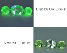 1.36 Cts Rare Unbelievable Color Change Fluorescent Hyalite Opal
