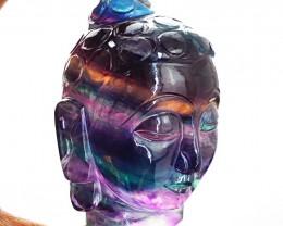 Genuine 895 cts Fluorite Buddha Head