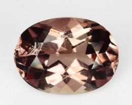 ~EXTREMELY RARE~ 1.50 Cts Natural Apatite Peach Pink Oval Brazil