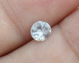 Natural Ceylon White Sapphire, .40 Ct **Good Cutting** (00752)