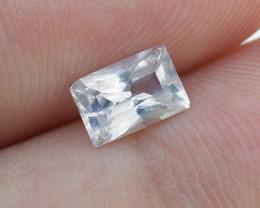 Unheated Natural Ceylon White Sapphire, 0.79 Ct. **Good Cutting** (00753)