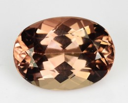 ~EXTREMELY RARE~ 2.28 Cts Natural Apatite Peach Pink Oval Brazil