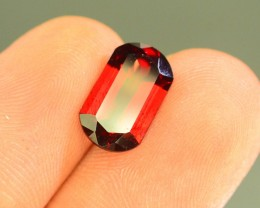 3.60 ct Natural Laser Cut Red Rhodolite Garnet