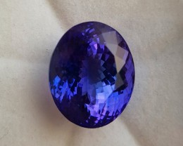''Rare''  22.73 ct  Tanzanite - GIA certified