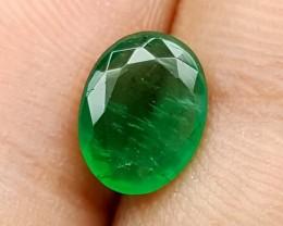 1.50 Crt Best Grade Emerald oval cut Stunning  Gemstone   Jl136