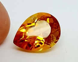 9.80 Crt Maderia Citrine top color Stunning  Gemstone   Jl136
