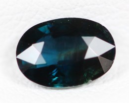 Certified 1.05Ct Natural Australian Dark Blue Color Unheated Sapphire