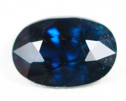 Certified 1.11Ct Natural Unheated Australian Dark Blue Color Sapphire