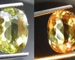 4.58CT Color Change Diaspore (Zultanit) , 100% Natural Gemstone