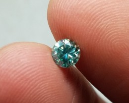 Graceful Natural 0.45ct. Round Blue Moissanite Untreated