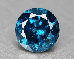 0.09 Cts Natural Fancy Blue Diamond Round Africa