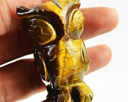 Golden Tiger eye 261 cts Handcarved Owl