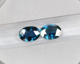 1.61ct Natural UNHEATED Dark Blue Color Australian Sapphire Lot 1610-15