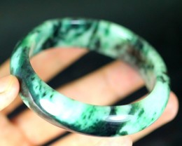 Green Jadeite Jade Bangle Bracelet 349.0ct. 58.3mm