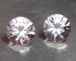 2.00cts Burma Spinel Pair, 100% Untreated, Top Cut