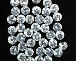 10.05 Cts Natural White Zircon 3.50 mm Diamond Cut 40 Pcs Parcel