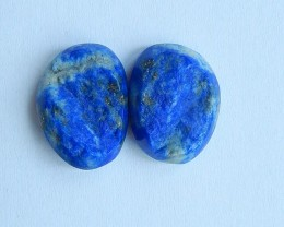 22.5ct Natural Lapis  Lazuli Cabochon Pairs(17101403)
