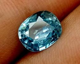 3.10 Crt Blue Zircon Stunning  Gemstone   Jl137