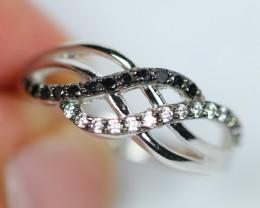 2.65gram Natural Black Spinel 925 Silver Ring Sz6.5