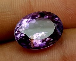 7.30 Crt Amethyst oval faceted Stunning  Gemstone   Jl137