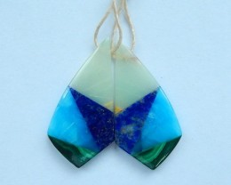Newest Design!!! Elegant Gemstone Combination Earrings,25.5ct Natural Amazo