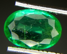 1.0 Crt Natural Zambia Emerald Faceted Gemstone (M 82)