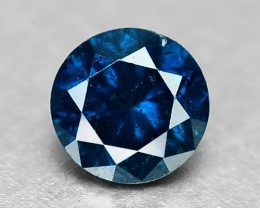 0.10 Cts Natural Fancy Blue Diamond Round Africa