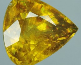 CERTIFIED'6.847 CTS Lustrous Vivid Yellow Hue Natural Sphene NR!~$660