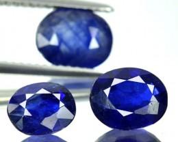 5.22 Cts Natural Blue Sapphire Oval Cut 3 Pcs Thailand Gem
