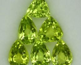 6.46 Cts Natural Pakistan Green Peridot 6 Pcs Mix Parcel