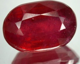 4.90 Cts Blood Red Ruby Oval Cut Thailand Gem