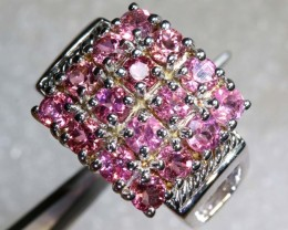 44.2CTS PINK SAPPHIRE SILVER RING SG-2572