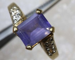17.9CTS IOLITE AND QUARTZ SILVER RING SG-2587