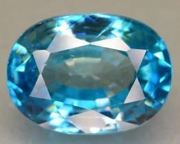 Gil Cert 5.65 ct Starlite Blue Zircon Cambodia SKU.6