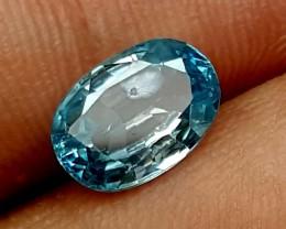 3.10 Crt Blue Zircon Stunning  Gemstone   Jl138
