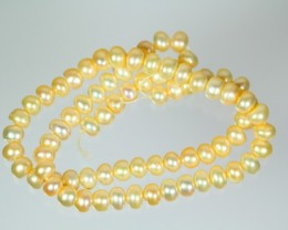 111.5Cts Semi-Round Pearl Strands