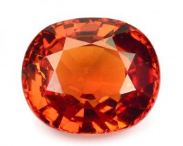 2.52 Cts Natural Mandrain Orange Spessartite Garnet Oval Gem