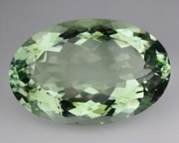 23.25 Cts Natural Green Amethyst/Prasiolite Oval Cut Brazil Gem