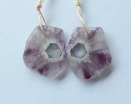 21.5ct Natural Amethyst Earring Beads(17101707)