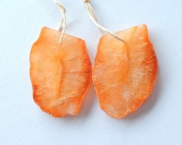 36ct Natural Orange Agate Earring Beads For Lady(17101709)