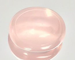 29.75ct Pastel PInk Rose Quartz Cabochon Lovely effulgence NR