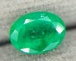 1.25 Crt Natural Emerald No Oil Faceted Gemstone (R 823)