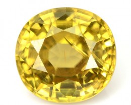 4.08 Cts Natural Yellow Zircon Cushion Cut Cambodian Gem