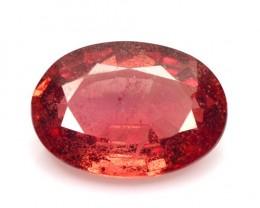0.62 Cts Natural Corundum Orange Sapphire Oval