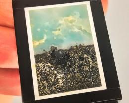 103.50CT Scenery and Sky Jasper Intarsia Focal Pendant gem