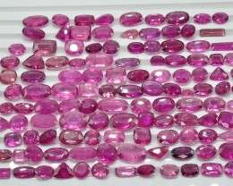 224.20 CT NATURAL BEAUTIFUL RUBELITE LOT ~ 136 Pcs