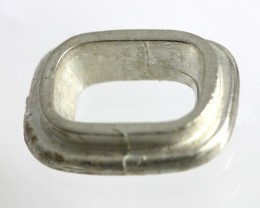Large Cushion Setting Bezel Set Sterling Silver (925) Uncleaned