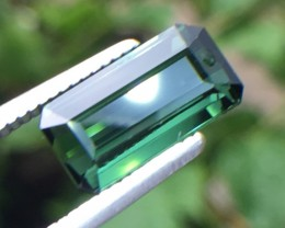 1.92 Ct Untreated Green Tourmaline Awesome Color ~ Afghanistan Kj28