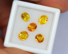 3.95Ct Natural Ceylon Yellow Sapphire Oval Cut Lot S1345